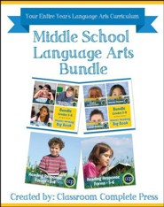Middle School Language Arts Bundle, Grades 3-8