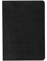 Bonded Leather Black Large Print Book Red Letter