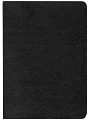 Bonded Leather Black Large Print Book Red Letter Thumb Index