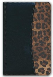 Imitation Leather Black Large Print Book Red Letter Leopard Spanish