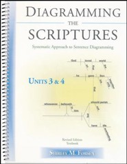 Diagramming The Scriptures: Systematic Approach to Sentence Diagramming Book 3 (Units 3 & 4)
