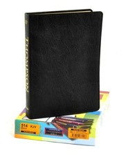 Genuine Leather Black Large Print Book Red Letter Thumb Index