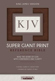 KJV Super Giant Print Reference Bibles
