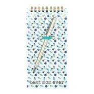 Best Mom Ever Spiral Notepad with Pen, Blue