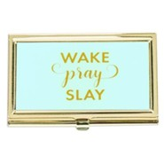 Wake Pray Slay Business Card Holder
