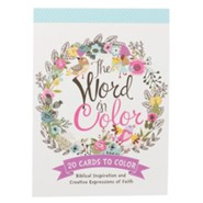 The Word In Color, Coloring Postcards, Pack of 20