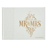 Mr. & Mrs. Our Wedding Guest Book, White