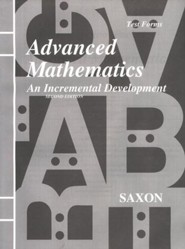 Saxon Advanced Mathematics Test Forms