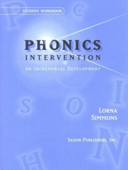 Saxon Phonics Intervention, Student Workbooks