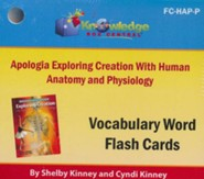 Exploring Creation with Human Anatomy & Physiology Vocabulary Flash Cards (Printed Edition)