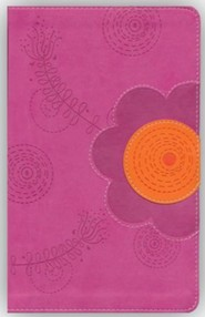 Imitation Leather Orange / Pink Book Raspberry
