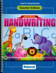 Universal Handwriting: Writing Readiness, Teacher Edition (Grade Pre-K)
