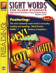 Sight Words for Older Students, Book 2