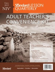 Standard Lesson Quarterly: NIV Adult Teacher's  Convenience Kit, Fall 2015