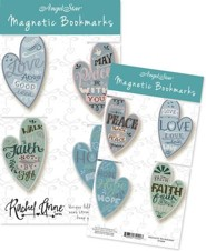 Hope, Faith, Love, Peace, Magnetic Bookmarks