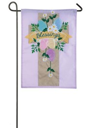 Blessings, Easter Cross, Applique Flag, Small