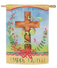 Easter Blessing Suede Flag, Large
