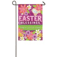 Easter Blessings Suede Flag, Small