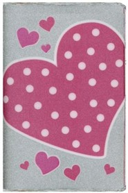 Bonded Leather Pink Hearts