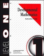 Developmental Math, Level 1, Educator's Guide