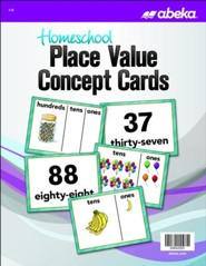 Abeka Homeschool Place Value Concept Cards Grades 1-2 (New Edition)