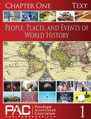 People, Places, & Events of World History Chapter One Text