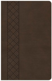 KJV Ultrathin Reference Bible, Brown LeatherTouch Value Edition