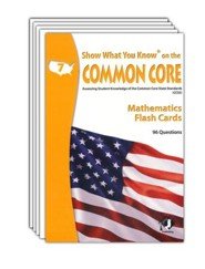 Show What You Know on the Common Core Mathematics Grade 7 Flash Cards