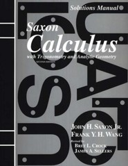 Saxon Calculus Solutions Manual, 2nd Edition
