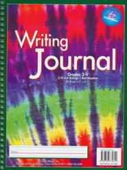 Zaner-Bloser Newsprint Writing Journal, Rainbow Stripes Tie-Dye Grades 3-4