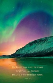 Aurora Borealis Scripture Series Bulletin, Regular Size (Package of 50)