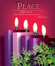 Advent Purple Sunday 4 Peace Bulletin 2014, Large (Package of 50)
