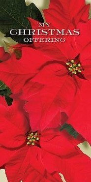Christmas Music and Christmas Poinsettia Offering Envelope 2014 (Package of 50) Bill size