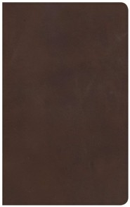 NKJV Ultrathin Reference Bible, Brown Genuine Leather