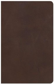 NKJV Large Print Personal Size Reference Bible, Brown Genuine Leather, Thumb-Indexed
