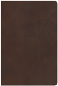 Genuine Leather Brown Large Print