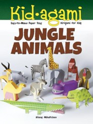 Kid-agami - Jungle Animals: Kirigami for Kids: Easy-to-Make Paper Toys  -     By: Atanas Mihaltchev
