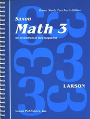 Saxon Math 3, Home Study Teacher's Edition, 1st Edition