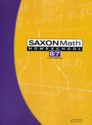 Saxon Math 8/7, 3rd Edition, Student Text