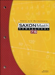 Saxon Math 7/6, 4th Edition, Tests and Work Sheets