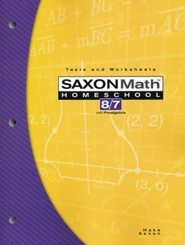 Saxon Math 8/7, 3rd Edition, Tests & Worksheets