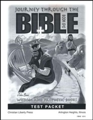 Journey Through The Bible Book 2: Wisdom and Prophetic Books Test Packet