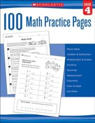 100 Math Practice Pages: Grade 4