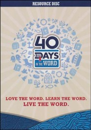 40 Days in the Word Resource Disk, CD-ROM