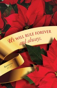 He Will Rule Forever Christmas Poinsettia Bulletin 2015 (Package of 50)