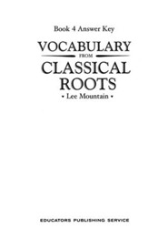 Vocabulary from the Classical Roots 4 Answer Key