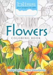 BLISS Flowers Coloring Book