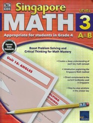 Singapore Math Level 3 A & B - Grade 4, Ages 9-10