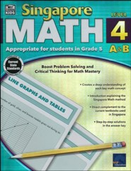 Singapore Math Level 4 A & B - Grade 5, Ages 10-11