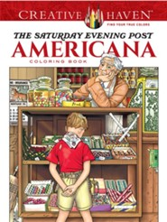 The Saturday Evening Post Americana Coloring Book